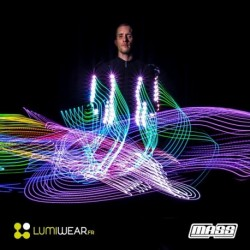 Single colored Light1 LED jacket size XL