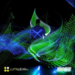 RGB color mixes Light1 LED costume size XL