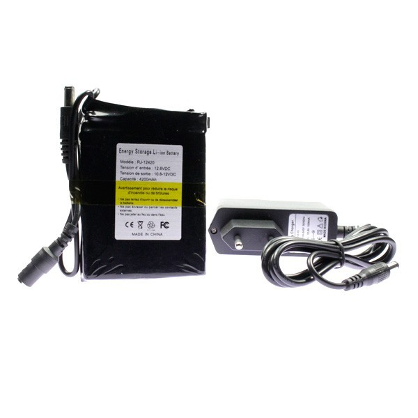 mini batterie rechargeable 12 volts 4200mah. Black Bedroom Furniture Sets. Home Design Ideas