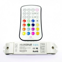 Contrôleur RGB radiofréquence avec télécommande boutons. Qualité premium