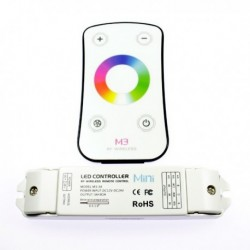 Radiofrequency RGB controller with touch remote control. Premium quality