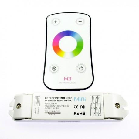 Contrôleur RGB radiofréquence avec télécommande tactile. Qualité premium
