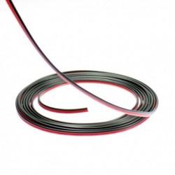 Câble électrique 2 fils pour ruban led mono couleur. Vendu au mètre