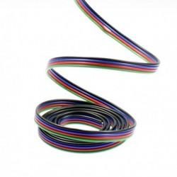Câble électrique 4 fils pour ruban led RGB. Vendu au mètre