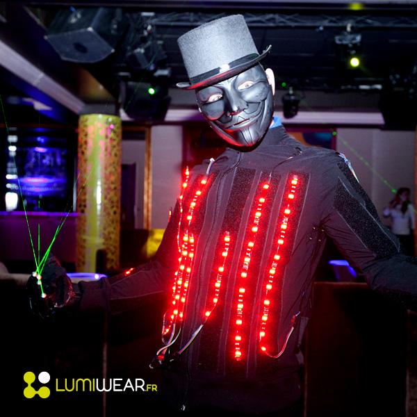 Blouson led Light1 amovible et autonome