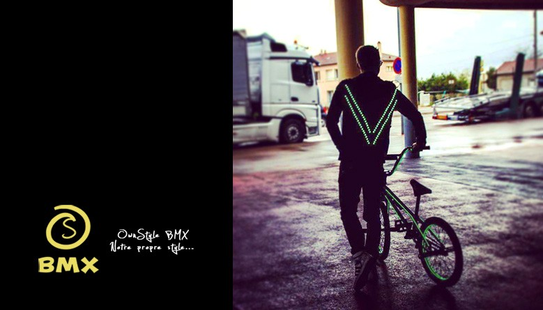 OSBMX utilise la veste Light1 pour ses shows acrobatiques